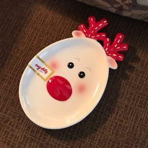Reindeer Holiday Plate